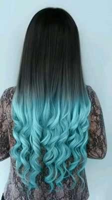 Lovely Sky Blue Hair Color