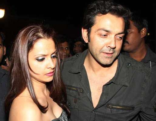 Image result for bobby deol with wife,nari