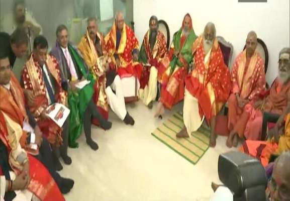 Image result for Nritya Gopal Das elected as president of Ram Temple Trust, to announce construction date in 15 days