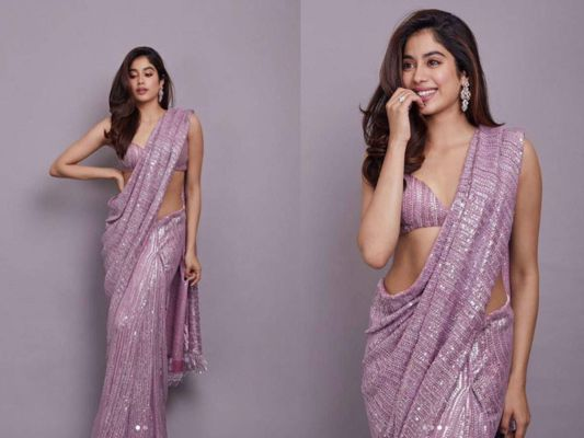 After Seeing the saree look of Janhvi Kapoor, you will also say 'uff'. - News Crab | DailyHunt