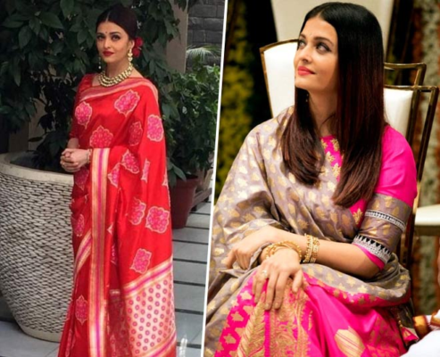 Fashion Tips Aishwarya Rai S Latest Saree Collection Can Be Perfect For Any Wedding Function News Crab Dailyhunt