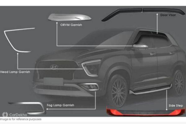 Hyundai Creta 2020 Accessories List Revealed Gets Performance And Adventure Pack Car Dekho English Dailyhunt