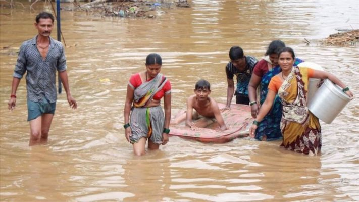 મધ્ય પ્રદેશમાં ભારે વરસાદ, નર્મદામાં પૂરની સ્થિતિને કારણે 2500નું સ્થળાંતર