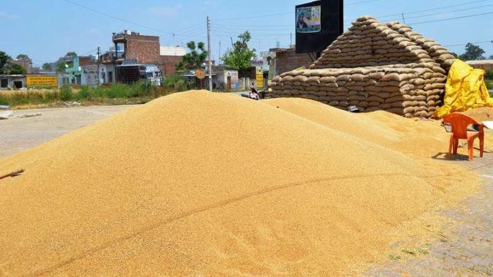 Wheat procurement in mandis