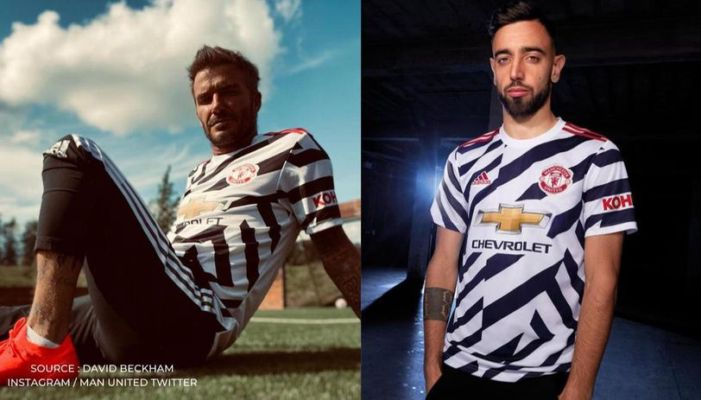 Man United S New Third Kit Compared To Zebras As David Beckham S Picture Goes Viral Republic Tv English Dailyhunt