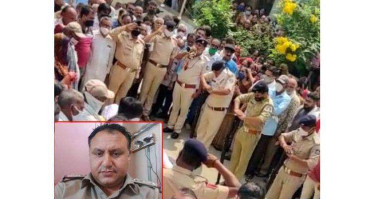ગાંધીનગર : સચિવાલયની સલામતી શાખાના પીઆઈ પટેલે સર્વિસ રિવોલ્વરથી લમણે ગોળી મારી આપઘાત કર્યો : ગાર્ડ ઓફ ઓનર આપી અંતિમ સંસ્કાર કર્યાં
