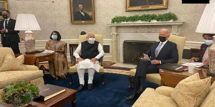 અમેરિકી રાષ્ટ્રપતિ બિડેન અને PM મોદીની બેઠક શરૂ, બિડેને સંબધો મજબૂત કરવાનું ટ્વિટ કર્યું હતું