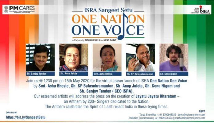 200 Singers From Isra Come Together To Create The Largest Anthem Platform One Nation One Voice Jayatu Jayatu Bharatam Vasudev Kutumbakkam Bollyy Dailyhunt